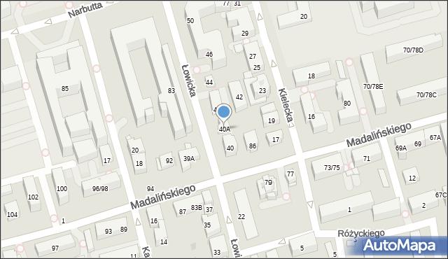 Warszawa, Łowicka, 40A, mapa Warszawy