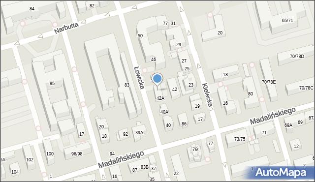 Warszawa, Łowicka, 42B, mapa Warszawy