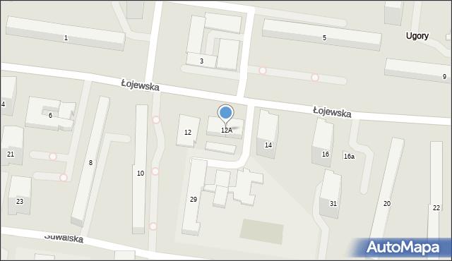 Warszawa, Łojewska, 12A, mapa Warszawy