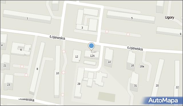 Warszawa, Łojewska, 12C, mapa Warszawy