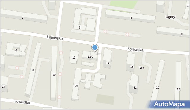 Warszawa, Łojewska, 12E, mapa Warszawy