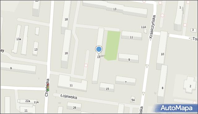 Warszawa, Łojewska, 13, mapa Warszawy