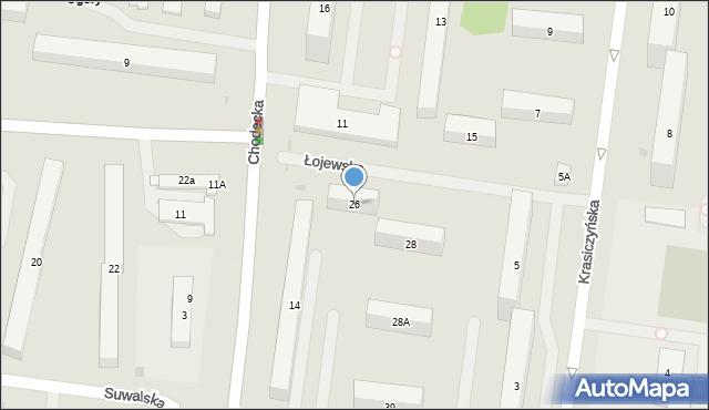 Warszawa, Łojewska, 26, mapa Warszawy