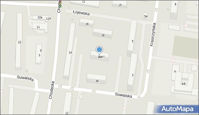 Warszawa, Łojewska, 28A, mapa Warszawy