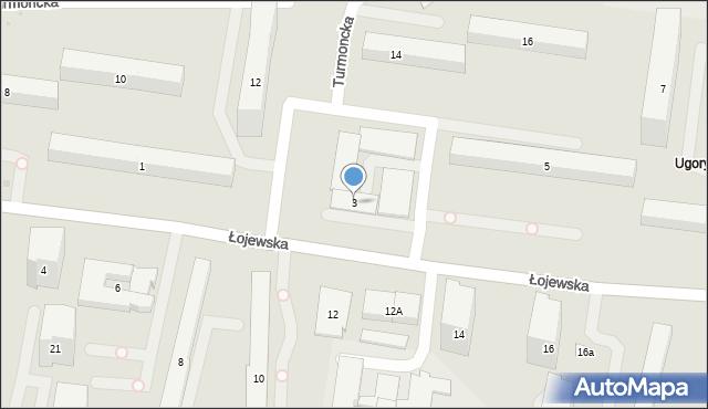 Warszawa, Łojewska, 3, mapa Warszawy