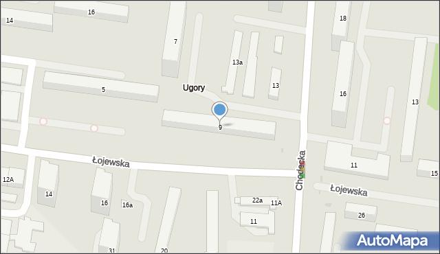 Warszawa, Łojewska, 9, mapa Warszawy