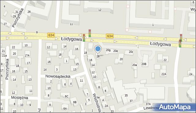 Warszawa, Łodygowa, 18, mapa Warszawy