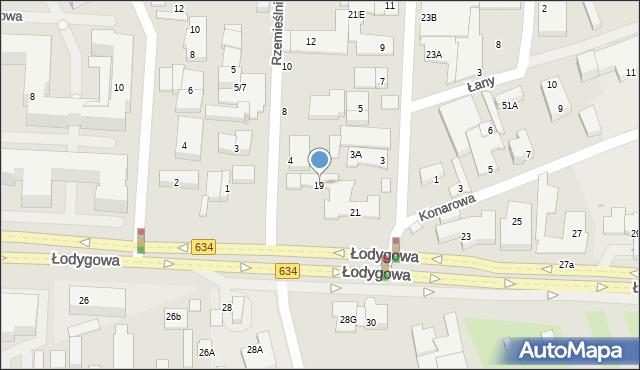 Warszawa, Łodygowa, 19, mapa Warszawy