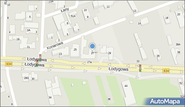 Warszawa, Łodygowa, 27, mapa Warszawy