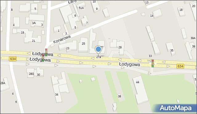 Warszawa, Łodygowa, 27a, mapa Warszawy
