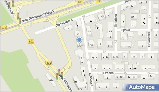 Warszawa, Łotewska, 11, mapa Warszawy