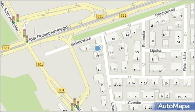Warszawa, Łotewska, 15, mapa Warszawy