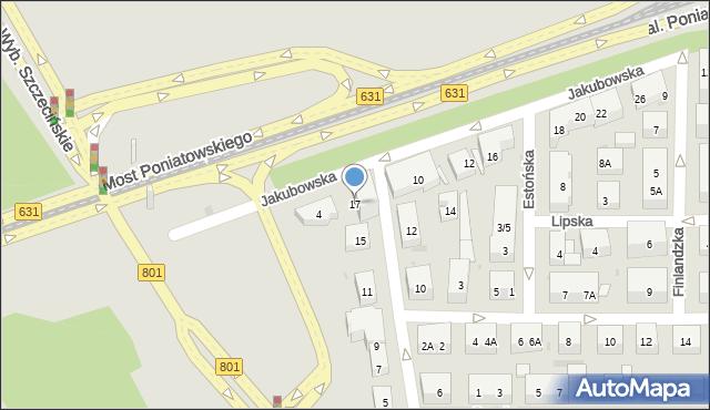 Warszawa, Łotewska, 17, mapa Warszawy
