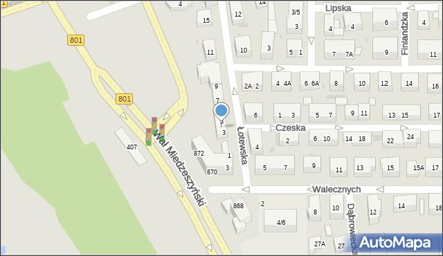 Warszawa, Łotewska, 3A, mapa Warszawy