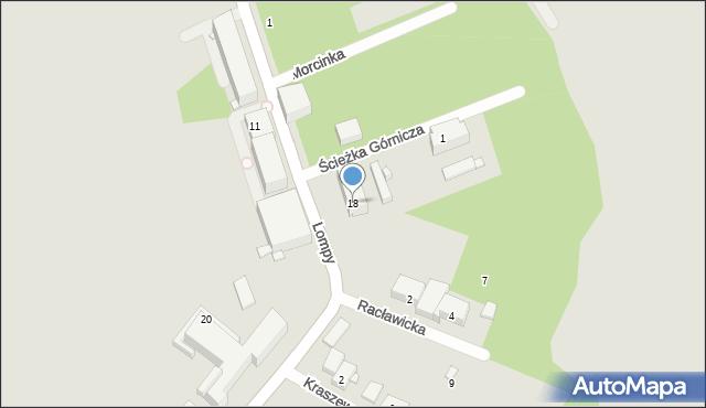 Zabrze, Lompy Józefa, 18, mapa Zabrza