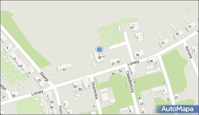 Zabrze, Lompy Józefa, 39, mapa Zabrza