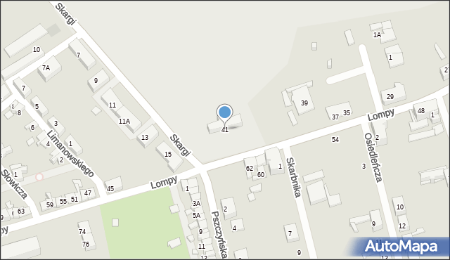Zabrze, Lompy Józefa, 41, mapa Zabrza