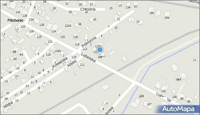 Chełm, Lubelska, 108, mapa Chełma
