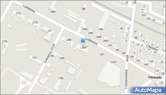 Chełm, Lubelska, 135A, mapa Chełma