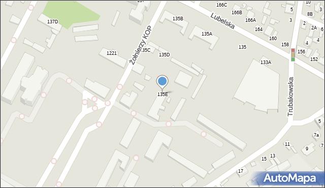 Chełm, Lubelska, 135E, mapa Chełma