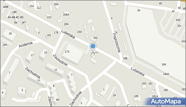Chełm, Lubelska, 171, mapa Chełma