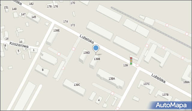 Chełm, Lubelska, 189c, mapa Chełma