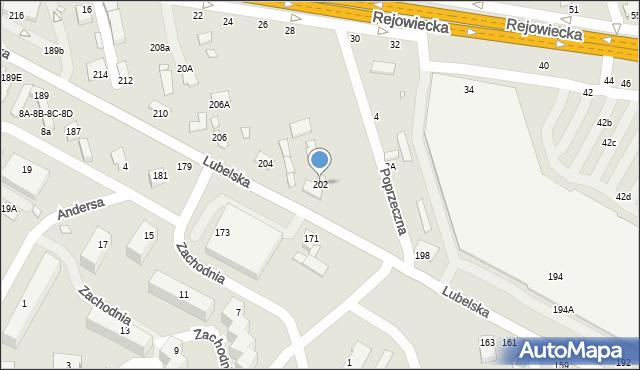 Chełm, Lubelska, 202, mapa Chełma