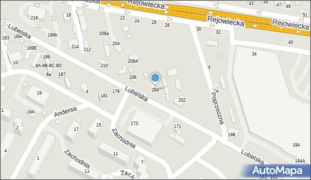 Chełm, Lubelska, 204, mapa Chełma