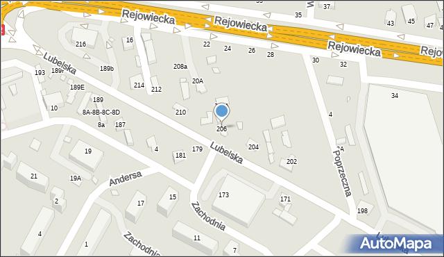Chełm, Lubelska, 206, mapa Chełma