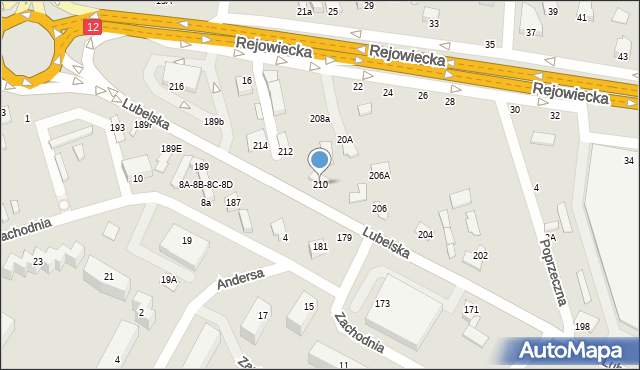 Chełm, Lubelska, 210, mapa Chełma