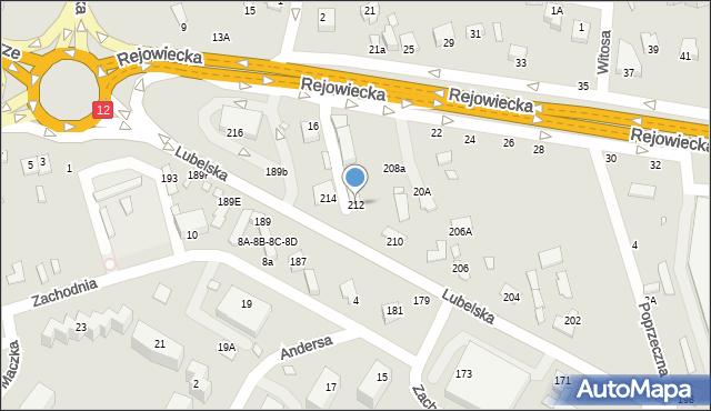 Chełm, Lubelska, 212, mapa Chełma