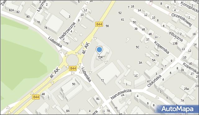 Chełm, Lubelska, 72A, mapa Chełma