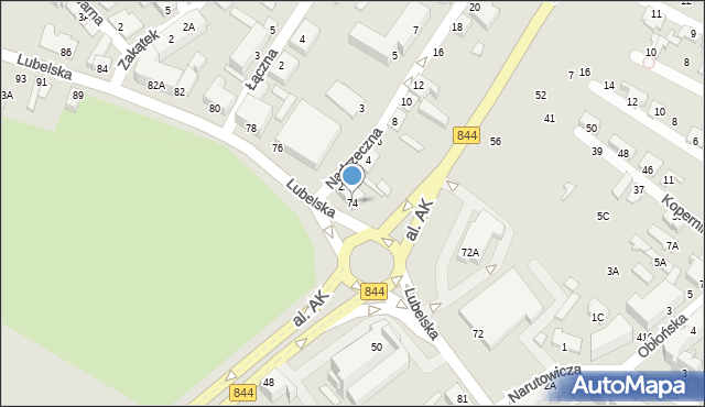Chełm, Lubelska, 74, mapa Chełma