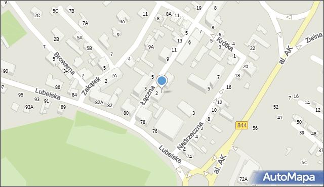 Chełm, Lubelska, 82a, mapa Chełma
