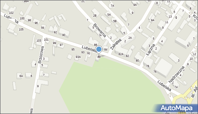 Chełm, Lubelska, 89, mapa Chełma