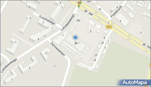 Chełm, Lutosławskiego Witolda, 1B, mapa Chełma
