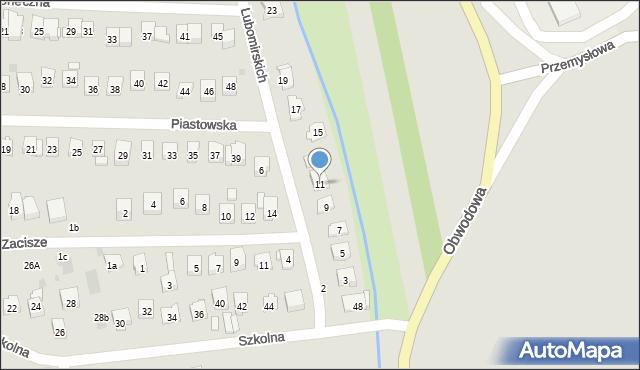 Dobczyce, Lubomirskich, 11, mapa Dobczyce