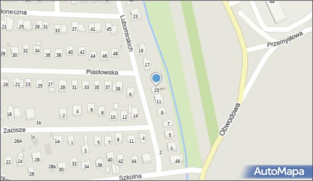 Dobczyce, Lubomirskich, 13, mapa Dobczyce