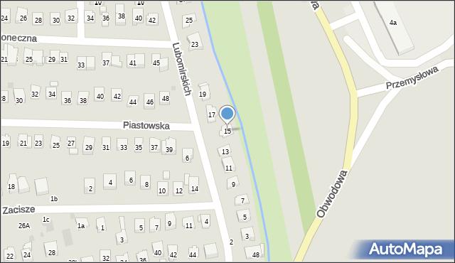 Dobczyce, Lubomirskich, 15, mapa Dobczyce