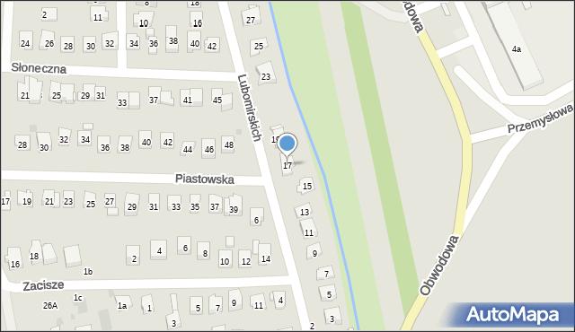 Dobczyce, Lubomirskich, 17, mapa Dobczyce