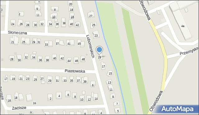 Dobczyce, Lubomirskich, 19, mapa Dobczyce