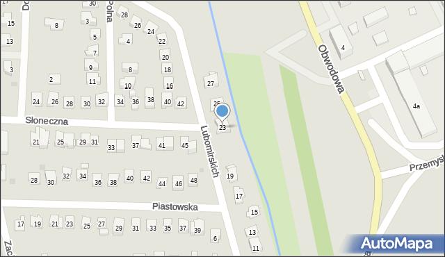 Dobczyce, Lubomirskich, 23, mapa Dobczyce