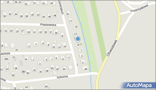 Dobczyce, Lubomirskich, 9, mapa Dobczyce