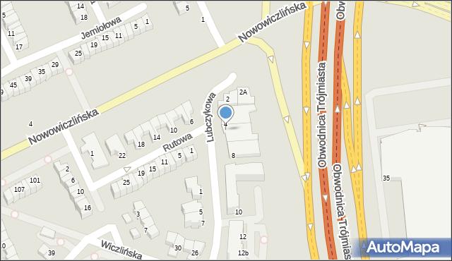 Gdynia, Lubczykowa, 6, mapa Gdyni