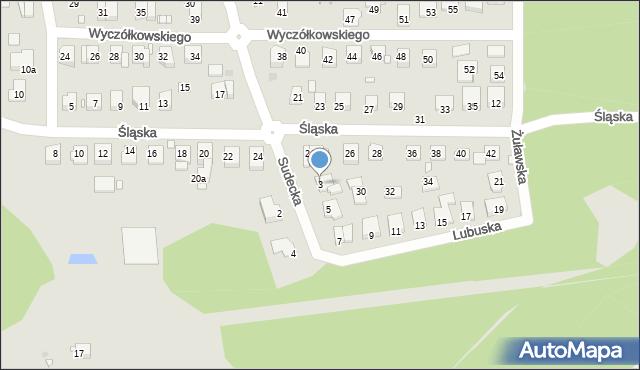 Grudziądz, Lubuska, 3, mapa Grudziądza