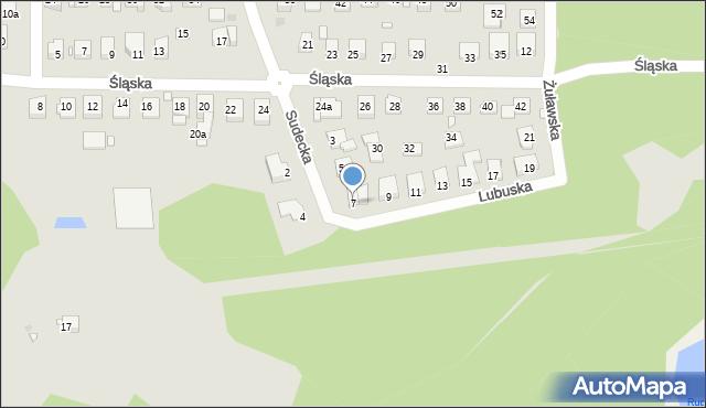Grudziądz, Lubuska, 7, mapa Grudziądza