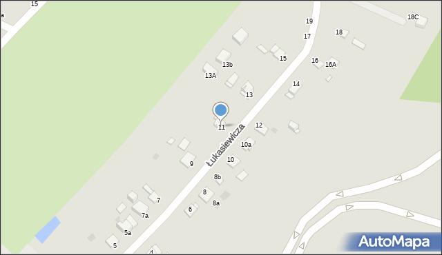 Grudziądz, Łukasiewicza, 11, mapa Grudziądza