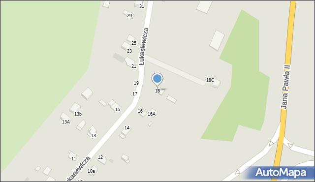 Grudziądz, Łukasiewicza, 18, mapa Grudziądza
