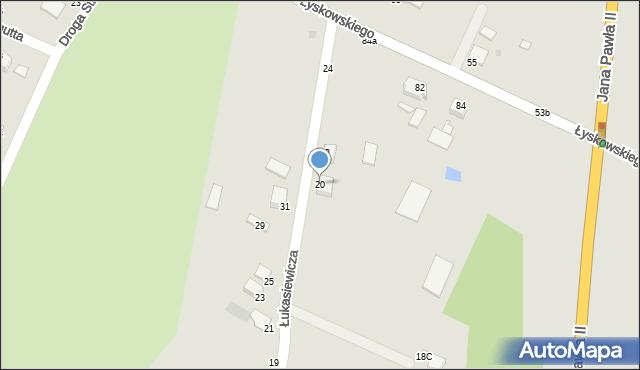 Grudziądz, Łukasiewicza, 20, mapa Grudziądza