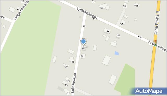 Grudziądz, Łukasiewicza, 22, mapa Grudziądza